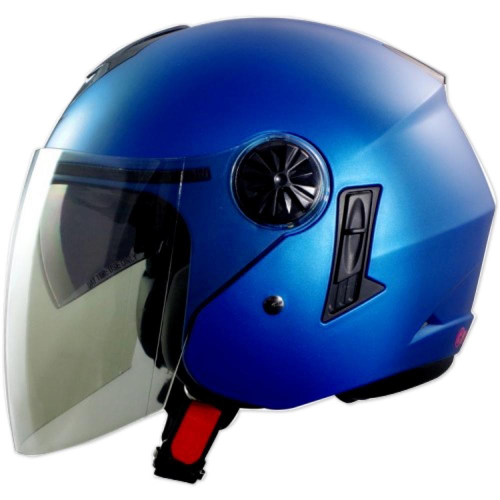 GP-5-時來運轉 繽紛安全帽 │導流通風設計│機車│內襯│開放式安全帽│內墨鏡 (消光藍)