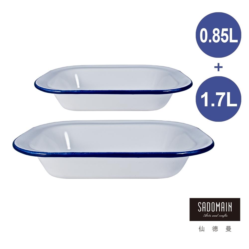 仙德曼 SADOMAIN-琺瑯鄉村風方餐盤組-22cm+28cm