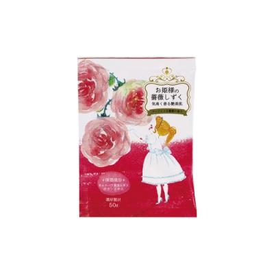 日本-小久保 公主入浴劑 拉拉公主的故事沐浴鹽-薔薇水滴(1包/ 50g)