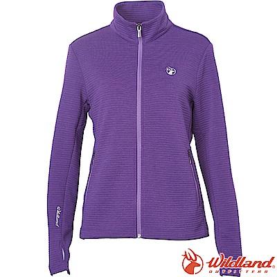Wildland 荒野 0A62607-29紫羅蘭 女彈性針織時尚保暖外套