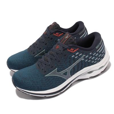 Mizuno 慢跑鞋 Wave Inspire 17 4E 男鞋 美津濃 超寬楦 路跑 緩震 輕量 藍 白 J1GC2122-60
