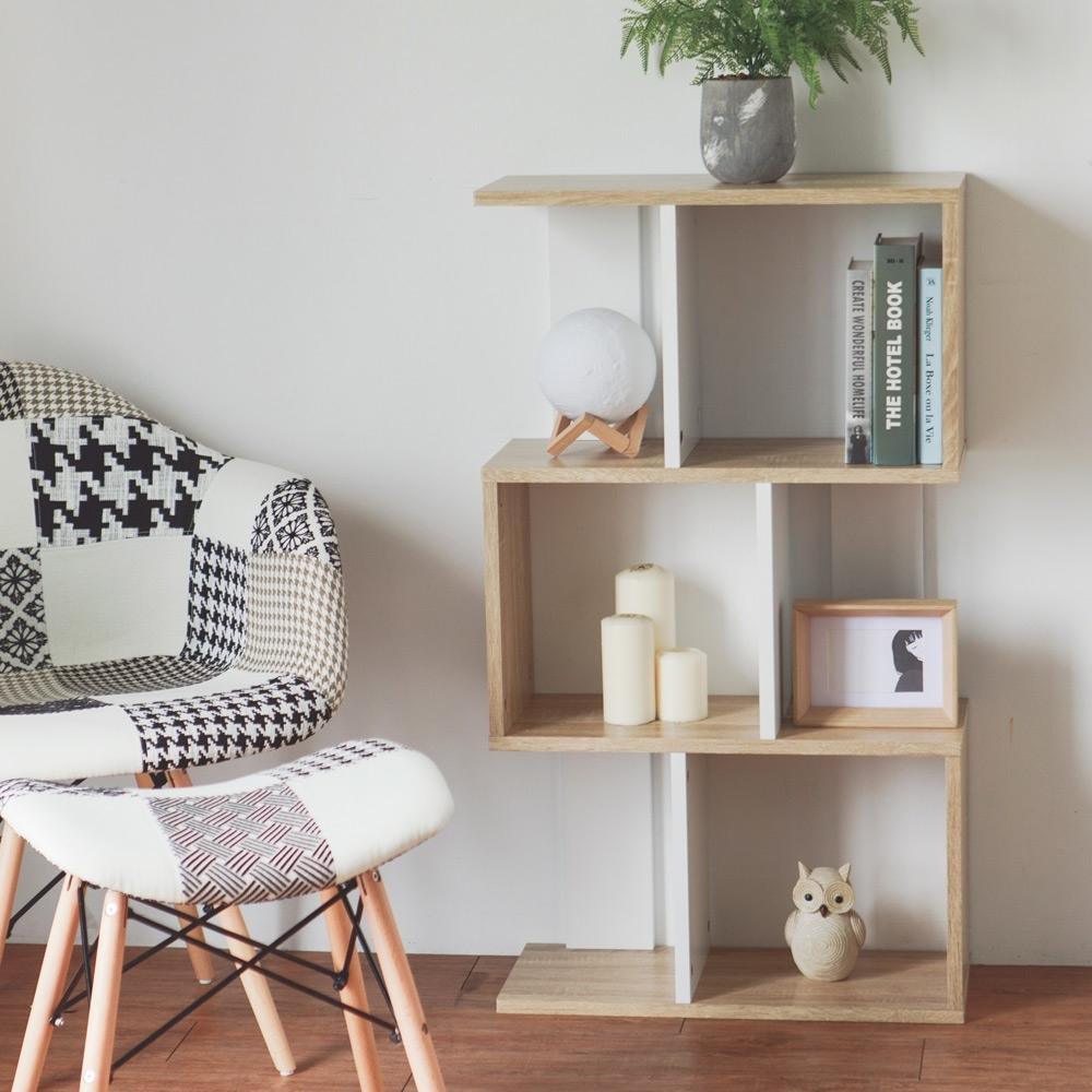 完美主義 設計款三層書櫃/置物櫃/組合櫃/屏風(4色)