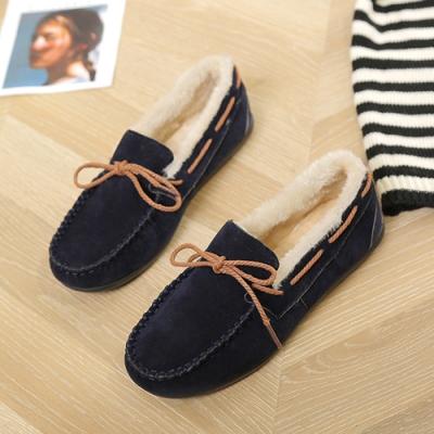 KEITH-WILL時尚鞋館 優雅氣質蝴蝶休閒鞋-深藍色