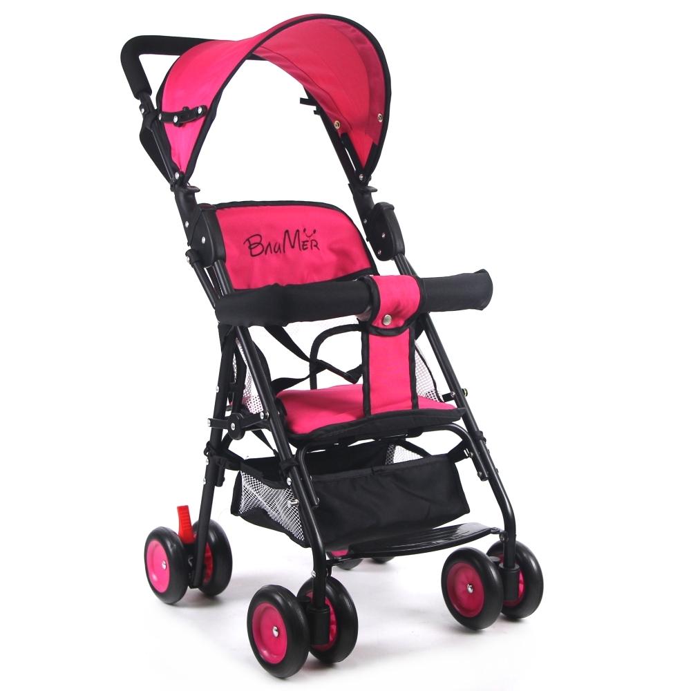 寶盟BAUMER 第三代輕巧推車(遮陽棚+抗震輪)-玫瑰紅
