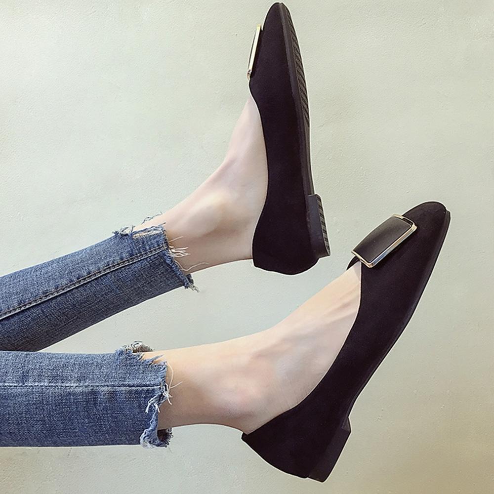 KEITH-WILL時尚鞋館 薔薇花漾百搭平底鞋 黑