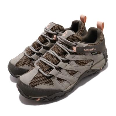 Merrell 戶外鞋 Alverstone GTX 女鞋 登山 越野 耐磨 防潑水 麂皮 透氣 棕 橘 ML033018