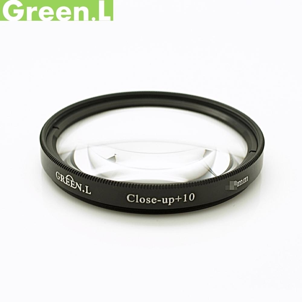 GREEN.L綠葉77mm近攝鏡片放大鏡(close-up+10濾鏡)Macro鏡
