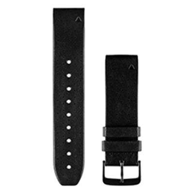 GARMIN Approach S60 QUICKFIT 22mm 黑色皮革錶帶