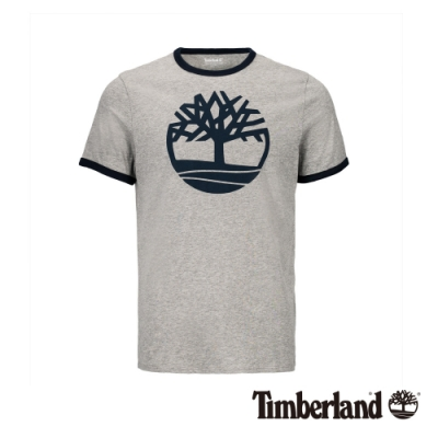Timberland 男款中麻灰大樹標誌LOGO短T恤|A1W1V