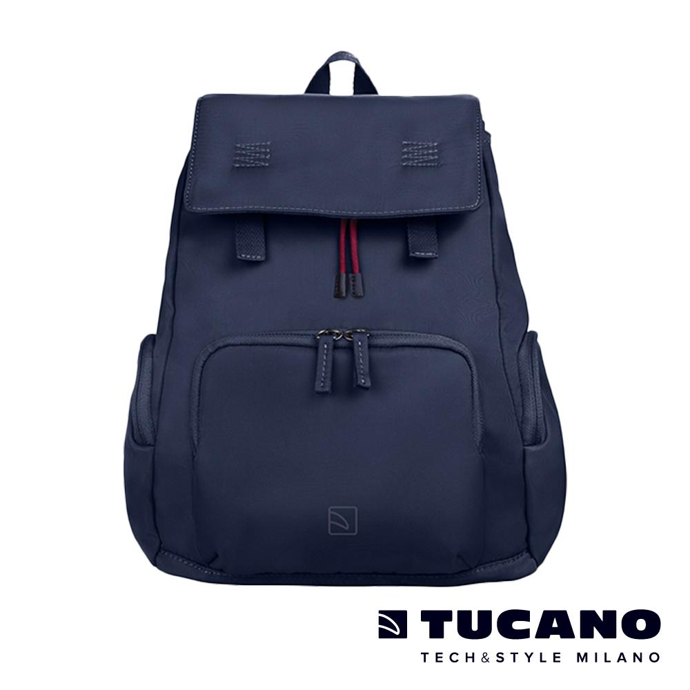 TUCANO 超輕量防潑水撞色系休閒大容量後背包-藍色