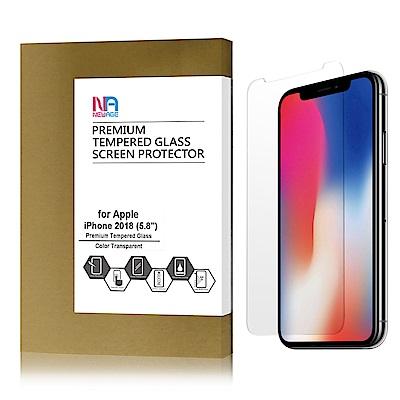 【NEWAGE】 APPLE iPhone  Xs 9H硬度玻璃螢幕保護貼
