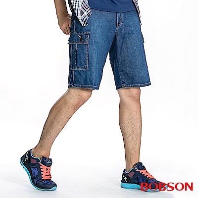 BOBSON 男款衣絲不罣涼爽貼袋短褲