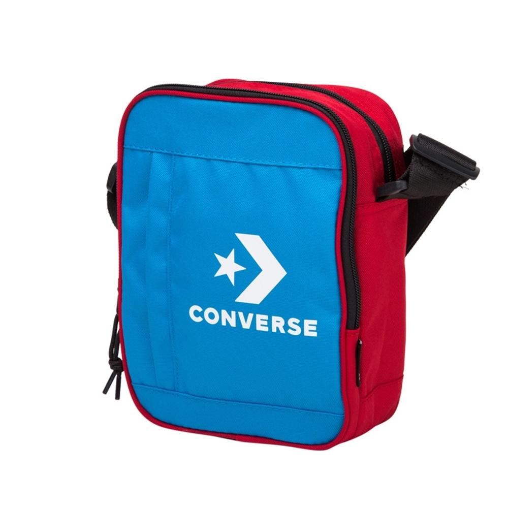 CONVERSE LOGO側背包 藍紅 撞色 10007266-A01