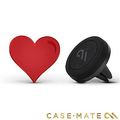 美國 Case-Mate 強力磁吸式手機車架組 - 紅心造型貼片