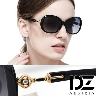 DZ 唯意菱心 防曬偏光 太陽眼鏡墨鏡(黑框漸層灰片)