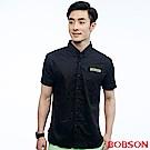 BOBSON  男款黑色素面襯衫