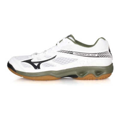 MIZUNO 男女 排球鞋 THUDNER BLADE 白綠黑