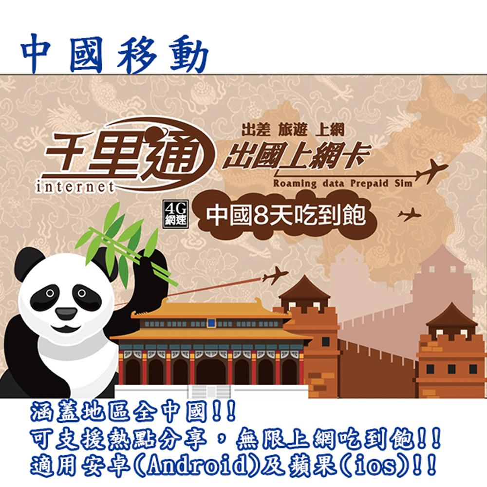 中國上網卡 8天無限上網吃到飽免翻牆保證不降速上網卡