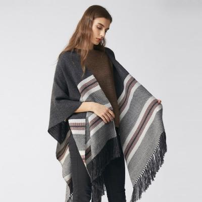 【ST.MALO】秘魯時尚設計師SUMY KUJON x ST.MALO 全球聯名手工斗篷大衣-霰灰