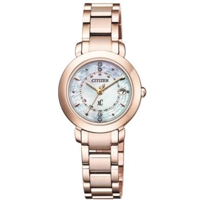 CITIZEN XC優雅迷人電波光動能鈦金屬腕錶ES9444-50X