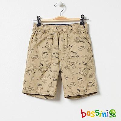bossini男童-印花輕便短褲03深褐