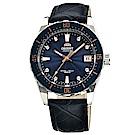 ORIENT  時尚曼哈頓自動上鍊機械腕錶(FAC0A004D0)-藍面x38.5mm