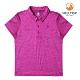 【hilltop山頂鳥】童款抗UV抗菌POLO衫PS14XC02ECF0螢光紫桃紅/黑美人 product thumbnail 1