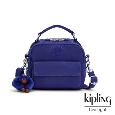 Kipling 氣質琉璃藍拉鍊兩用側背後背包-PUCK