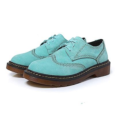 KEITH-WILL時尚鞋館 英倫復古百搭舒適牛津鞋-天藍色