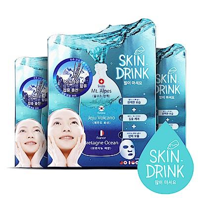 韓國SKIN DRINK_水效速感新生系列-保濕面膜 (12片/袋x3盒)