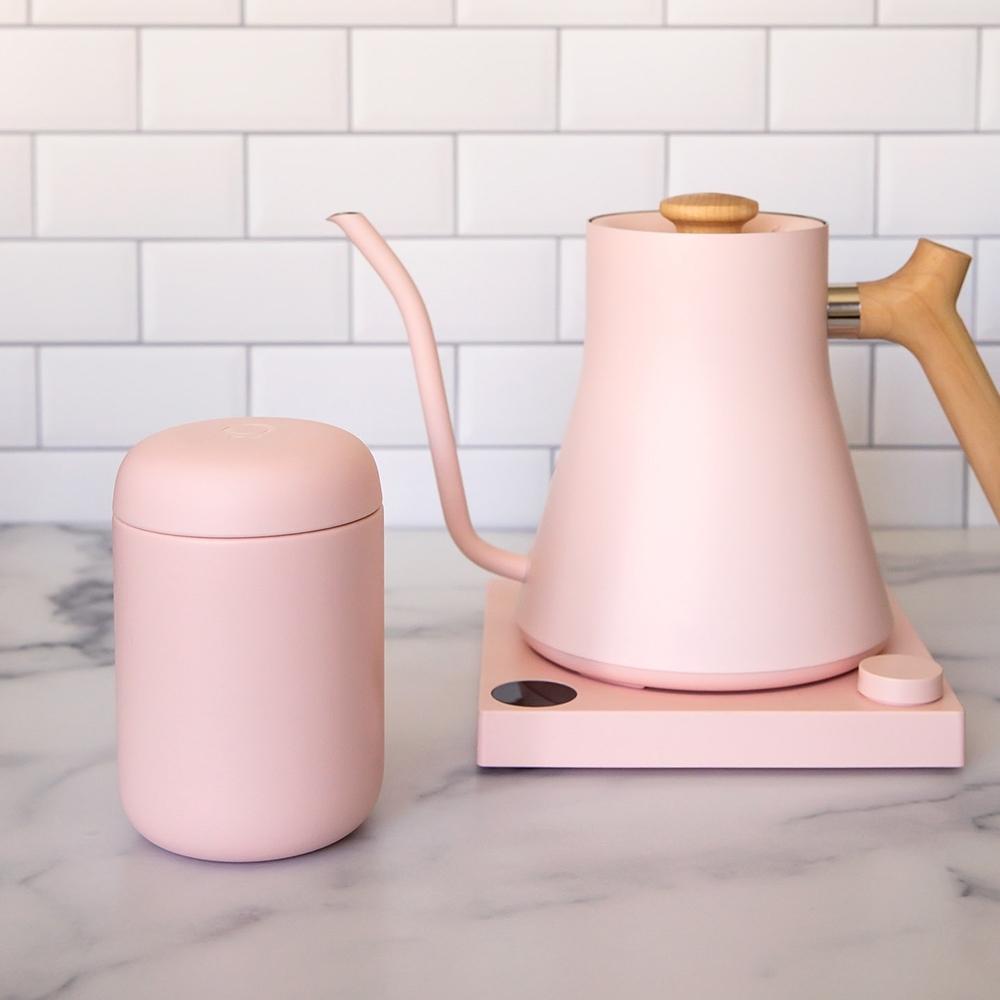 FELLOW Carter卡特陶瓷咖啡真空保溫瓶16oz-石櫻粉