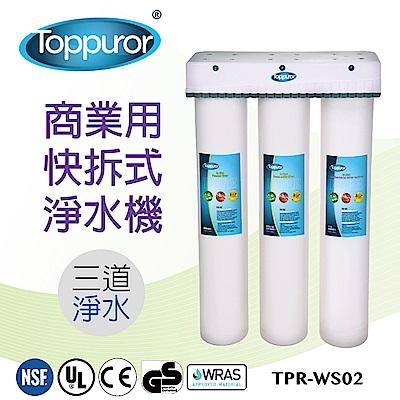 【泰浦樂 Toppuror】3道式商業用快拆飲淨水機(TPR-WS02)