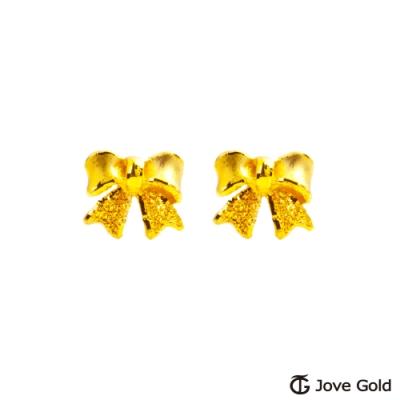 Jove Gold 漾金飾 浪漫情結黃金耳環
