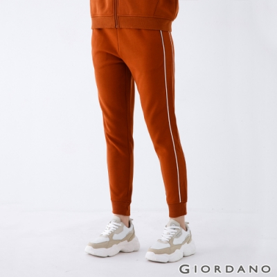 GIORDANO 女裝針織運動束口褲 - 91 椰殼棕