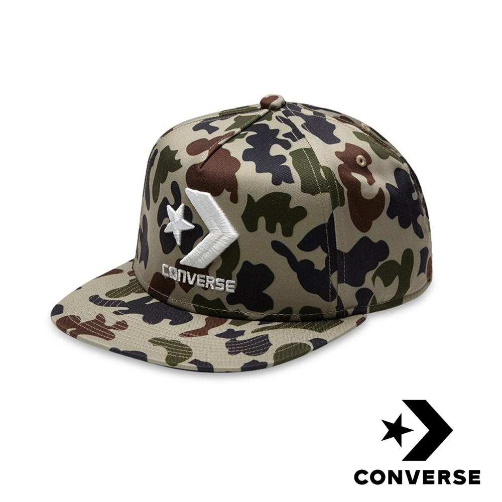 CONVERSE 刺繡LOGO棒球帽 (迷彩)
