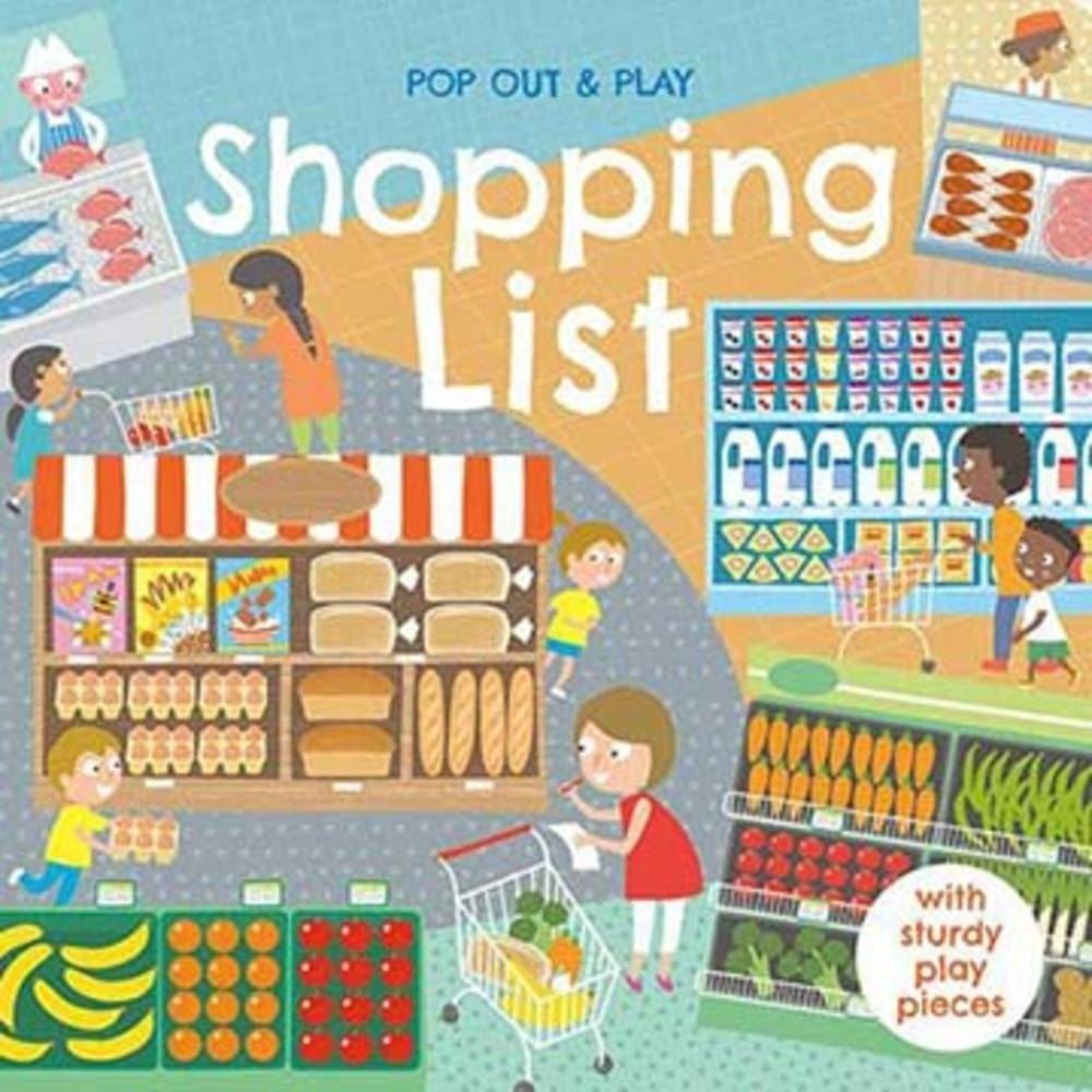 Pop Out&Play:Shopping List 購物遊戲拼圖書