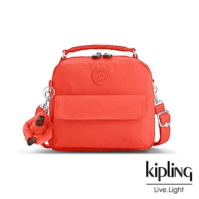 Kipling 後背包 螢光澄素面 -小