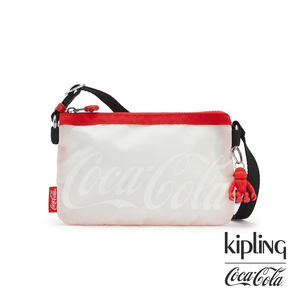 Kipling   Coca-Cola 聯名款可口可樂標誌性色系三夾層配件包-CREATIVITY XB