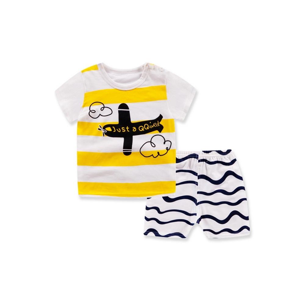 Baby童衣 兒童套裝純棉短袖短褲兩件套家居服 88330