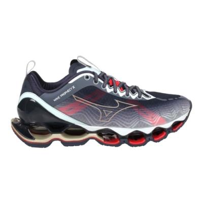 MIZUNO WAVE PROPHECY X 男慢跑鞋-避震 路跑 美津濃 J1GC210050 深藍紅金