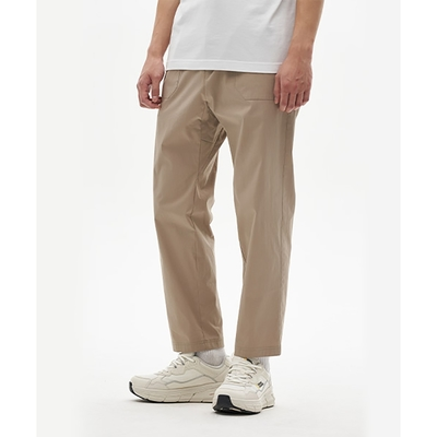 NATIONAL GEOGRAPHIC 男 BELTED WOVEN PANTS(TAPERED FIT) 長褲 淺褐-N211MPT901077