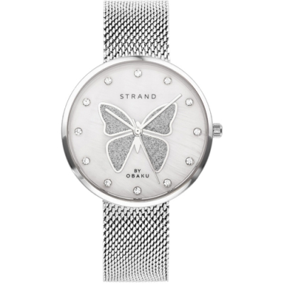 STRAND 丹麥海之星時尚腕錶-蝴蝶-白/35mm(S700LXCWMC-DB)