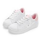 PLAYBOY 簡約仿皮綁帶休閒鞋-白粉-Y522019