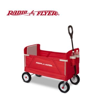 RadioFlyer 摺學家三合一折疊旅行拖車(橡膠胎)#3955A型