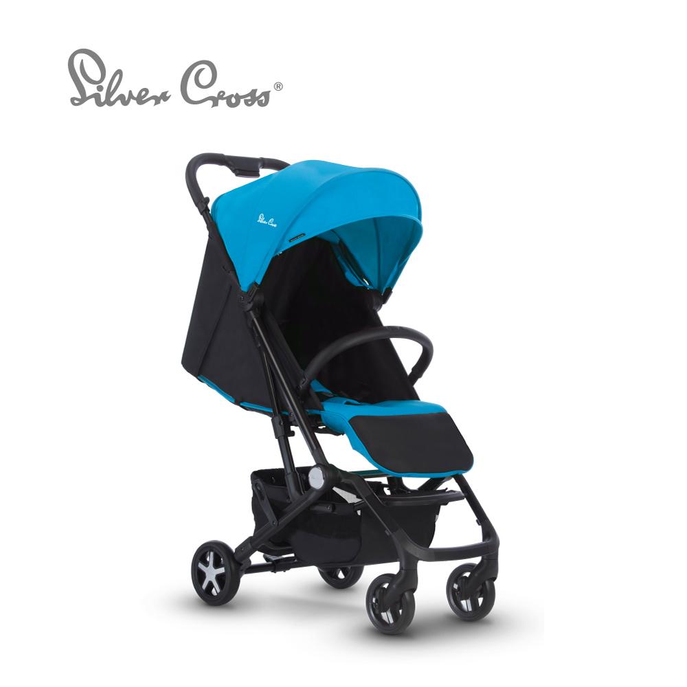 Silver Cross Wing 輕量秒收 可登機 可平躺 嬰兒手推車 0m+(雲端藍)