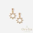 Orelia 英國倫敦 水晶小太陽垂墜耳環