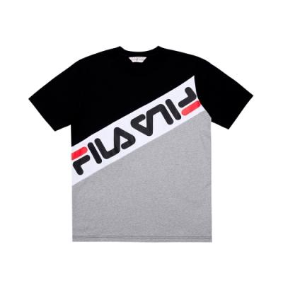 FILA #日潮攻略首部曲 短袖圓領T恤-黑色 1TEU-1410-BK