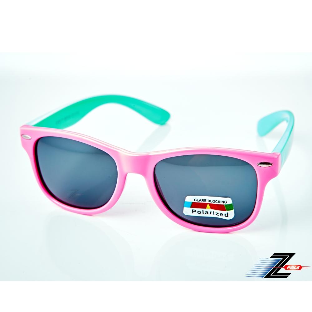 【Z-POLS】兒童專用矽膠軟質彈性壓不壞 Polarized寶麗來偏光太陽眼鏡S14