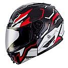 SOL SM-2 可掀式 可樂帽 全罩安全帽 猛禽 (黑紅白)