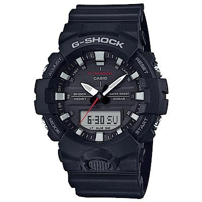 G-SHOCK 絕對強悍輕薄3D雙顯運動錶(GA-800-1A)-黑/48.6mm